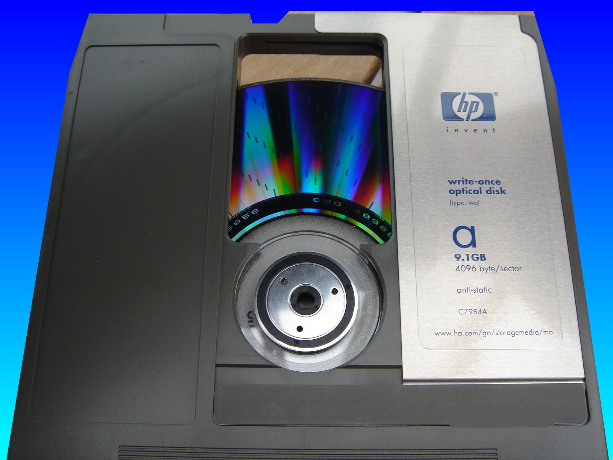 OpenText files stored on optical mo disk