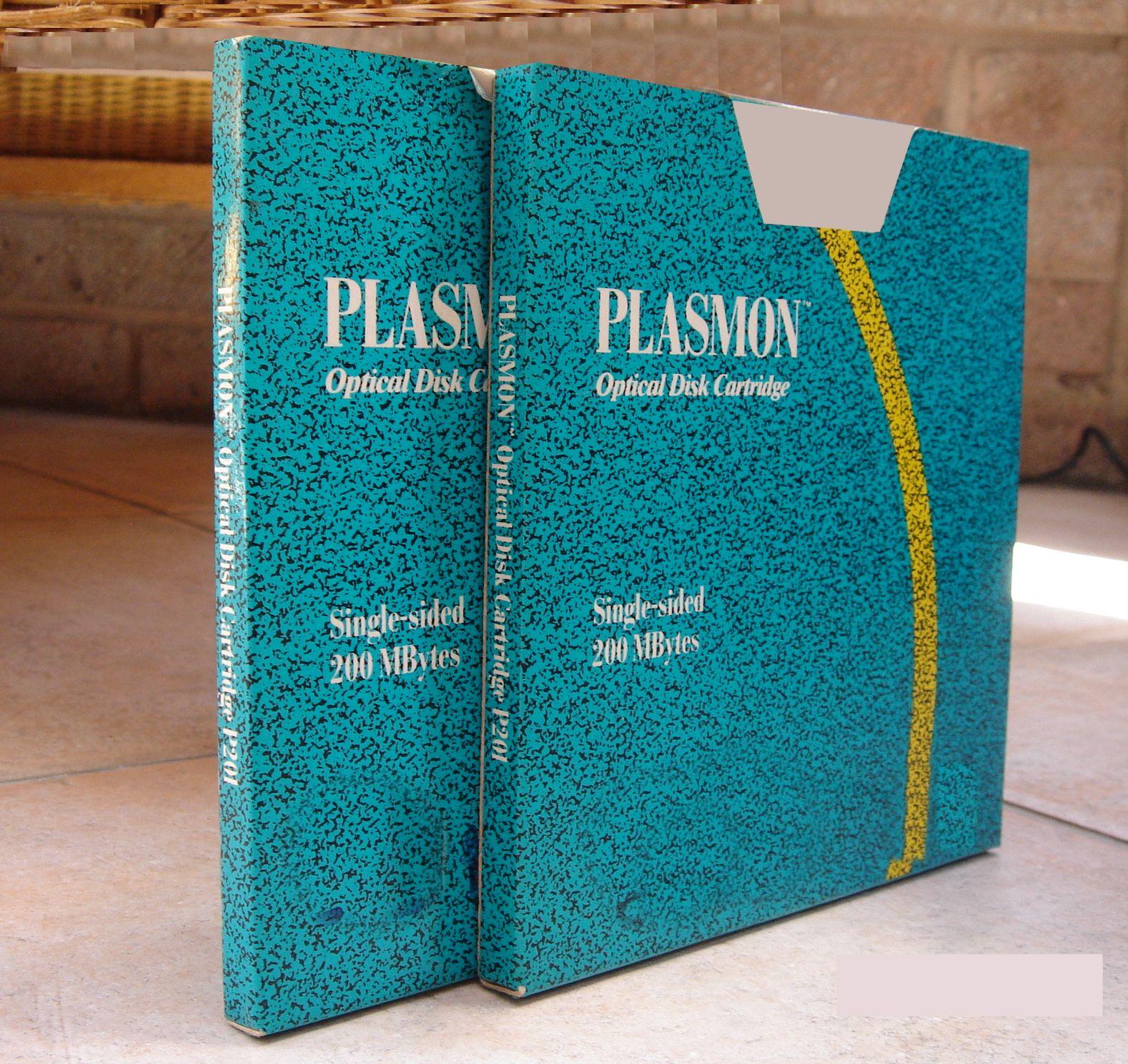 P201 200 mbytes  Plasmon disks ready for file transfer