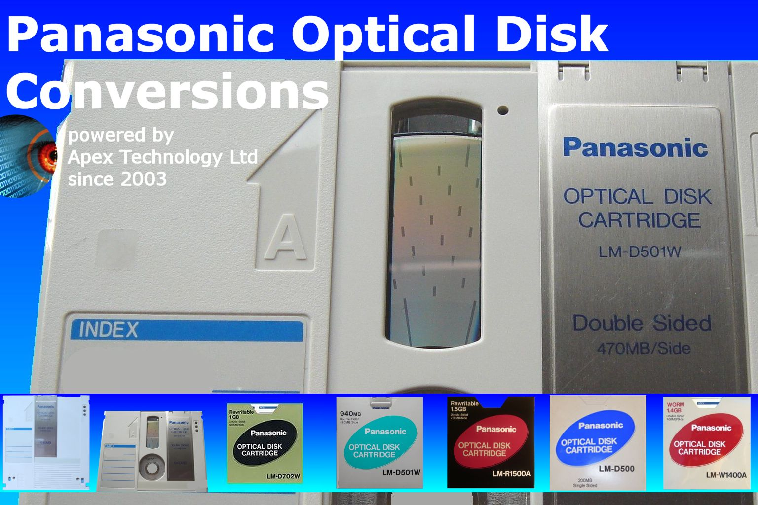 Panasonic LM Optical Disk Cartridge Conversion and File Transfer
