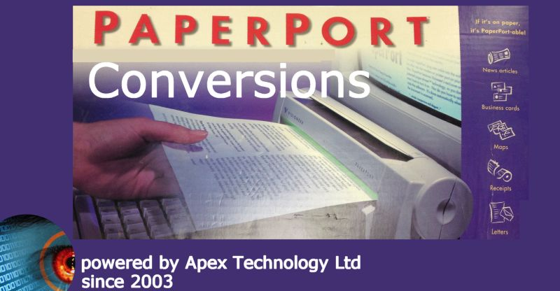 Paperport conversion transfer extraction import to pdf .max