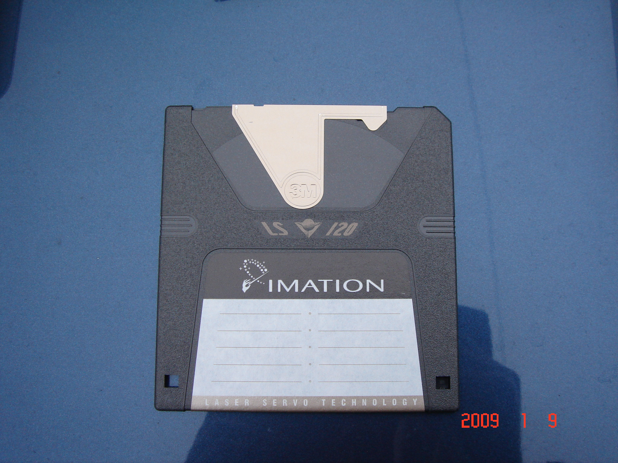 An Imation Superdisk LS120 that needed to be transferred to CD.