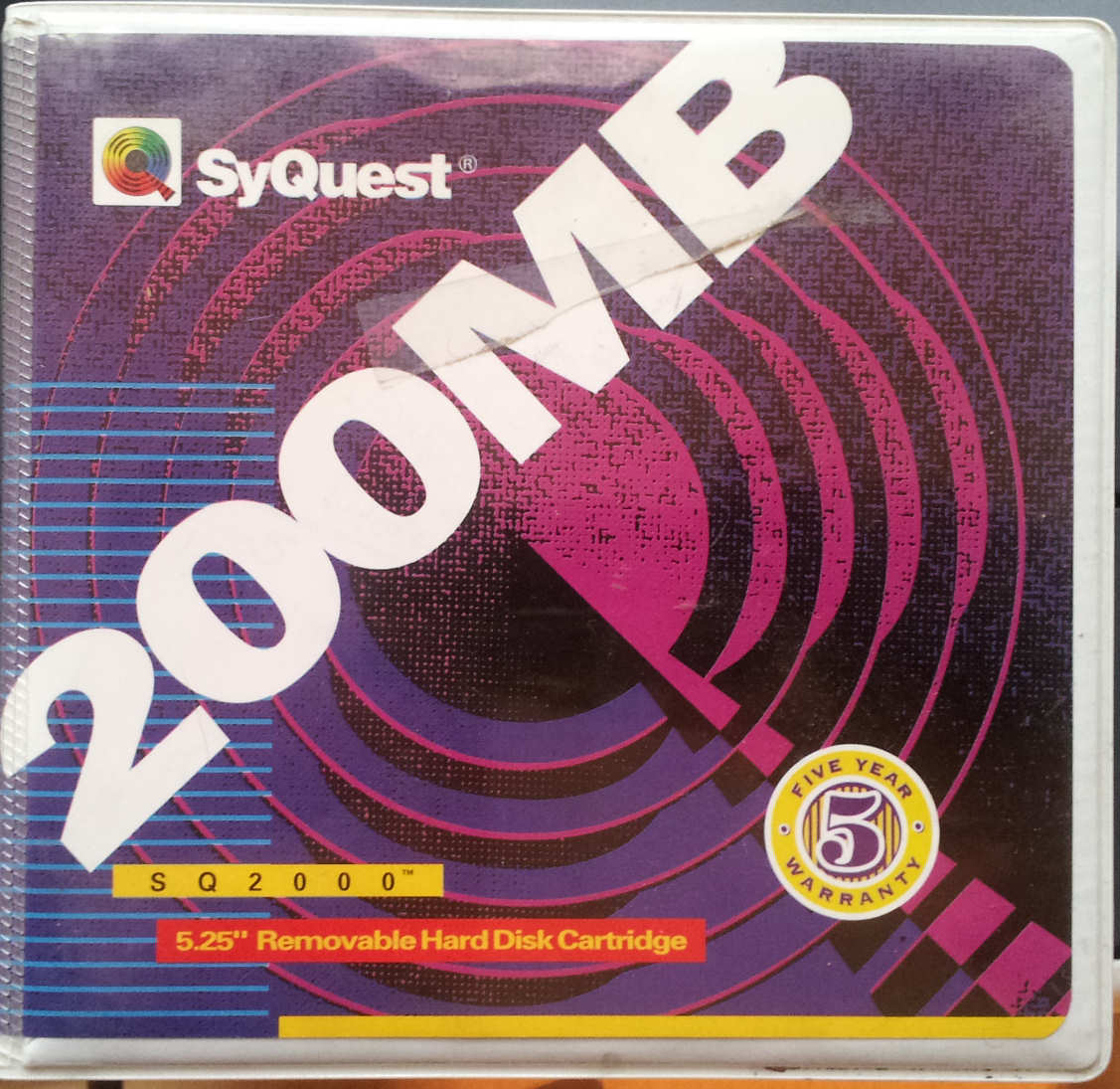 Syquest 200mb SQ2000 Hard Disk