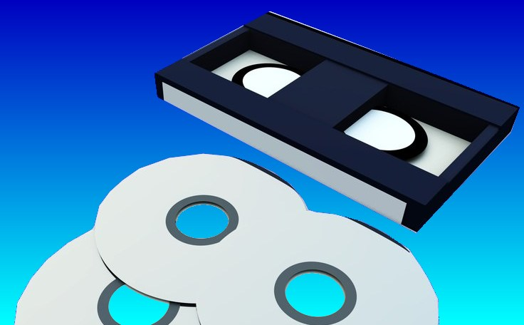 A general image of a tape transfer to CD or DVD disks.