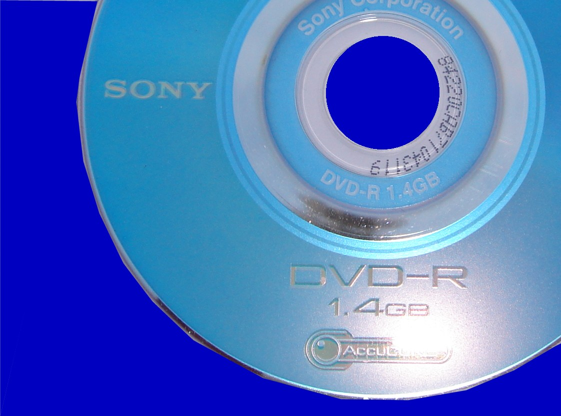 A Sony mini-dvd that had trouble finalising video.