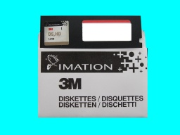 A 5.25 floppy disk made by 3M Imataion that was used in a BBC micro computer and stored files in the CPM filesystem.