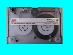 A Tape from an HP Apollo Domain machine that ran unix backup software to save files to the tape. The archive software was FEM Sesam 77 from Veritas / DNV.