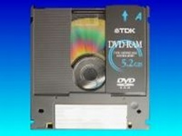 Data being transferred from DVD-RAM cartridge Type 1. Also Type 2 Type 3 Type 4 dvd-ram can have their files transferred.