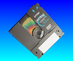 A TDK Type 1 DVD-RAM cartridge that needed its files copying.
