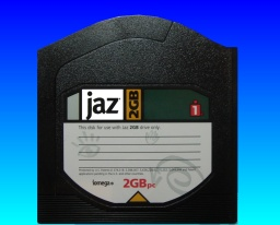 An Iomega Jaz disk with rare capacity of 2GB. Most were only 1GB and then got superceded by DVDs.