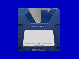 A SuperDisk 120mb inside it's jewel cover.