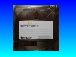 An EzFlyer 230mb Syquest disk that was used on an Apple Mac and now requires it's files transferred to CD.