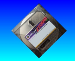 A syquest 3.5inch 270mb data cartridge sent to us for file transfer.