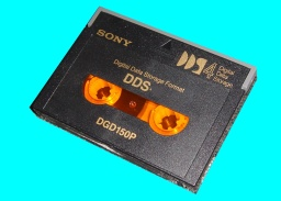 An AIX DAT DDS1 tape with unix binary files. This tape was also sent with a DC-6150 for data transfer as the client no longer had a drive to read the tape.