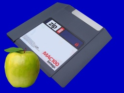 A Mac formatted ZIP disk.