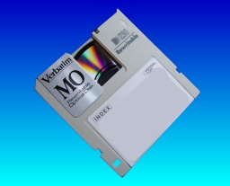 A Verbatim MO disk received in our lab for converting to CD.