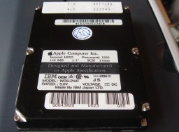 An IBM WDS-2120 120mb hard disk from an Apple Powerbook