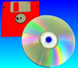 Floppy disk containing word perfect files for conversion to CD