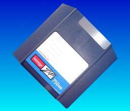 A Zip750 disk which the customer had trouble reading the files from and sent it to us for data recovery.