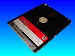 An Amsoft CF2 disk that was used in an Amstrad computer floppy drive and contained Locoscript files for conversion to microsoft word.