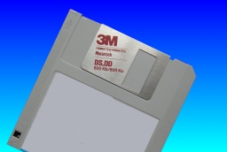 A 3M Mac formatted floppy disk from an early Apple computer using MFS filesystem The disk is rated 1.0MB.