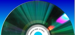 A CD showing the burn side where files are stored ready for data recovery.