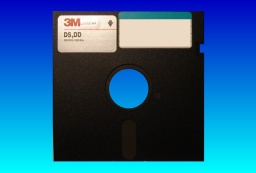 A CNC machine 5.25 inch floppy disk used to control machining patterns, but now requiring data recovery.