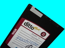 A Tecmar Ditto Max tape cartridge cassette that needed data recovering. Ditto tapes are also made by Iomega.
