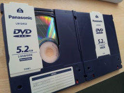 DVD-RAM cartridge disks for conversion and file transfer