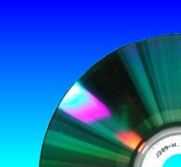 The corner of the DVD data side where files are burnt to the disc. This particular DVD had a slideshow movie on it that the customer needed converting to .jpg files.
