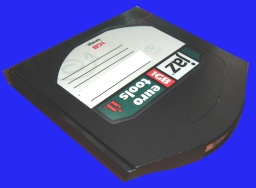 A Jaz disk about to have it's files transferred to USB or DVD.
