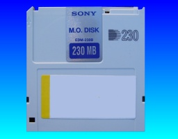 A Sony EDM-128 MO disk that had file corruption.