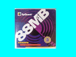 An 88mb Syquest disk sent to us for reading its contents.